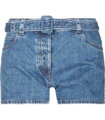 prada denim shorts