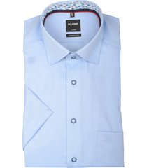 olymp overhemd blauw contrast kraag 133452/12
