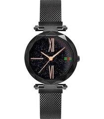 reloj lujo mujer moda casual pulso acero 239 negro