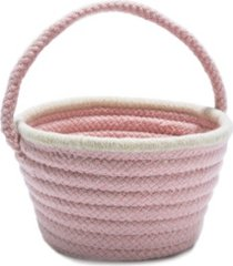 easter pastel wool braided basket