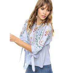 blusa celeste laila florey