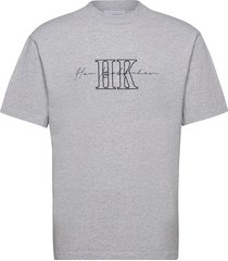boxy tee t-shirts short-sleeved grå han kjøbenhavn