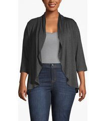 lane bryant women's drape front cardigan 18/20 charcoal heather