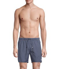 emporio armani men's pincheck boxer shorts - deep blue - size xs