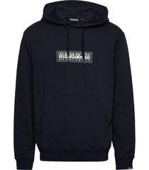 box h 1 hoodie trui blauw napapijri