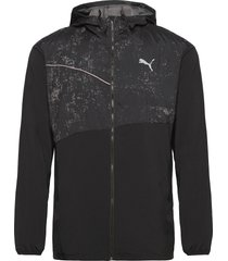 run graphic hooded jacket m outerwear sport jackets zwart puma