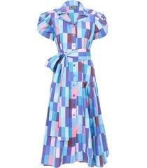 blue checks glades dress