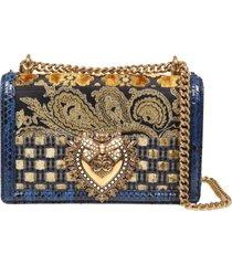 dolce & gabbana devotion patchwork shoulder bag