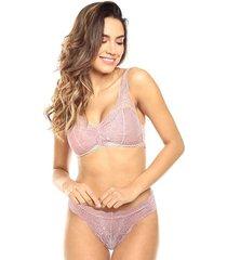 brasier tipo top anouk jessie de la rosa lingerie para mujer - lavanda