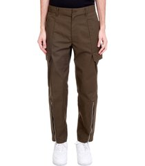 helmut lang pants in green polyester