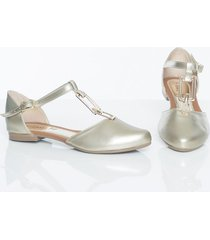 baletas dorado kclass top 9396