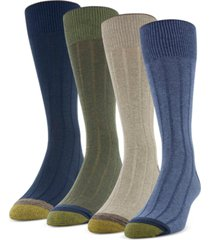 gold toe men's 4-pack casual rib socks