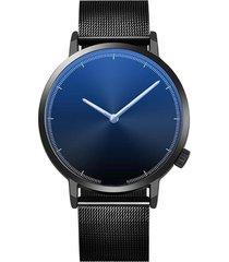 reloj hombre clasico acero inoxidable negocios 403-a negro