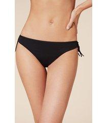 calzedonia anna low-waisted brazilian bikini bottoms woman black size 2