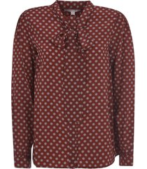 michael kors all-over printed bow blouse