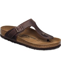 gizeh shoes summer shoes flat sandals brun birkenstock