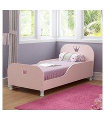 mini cama realeza com colcháo 150cmx70cm 100% mdf multimóveis rosa