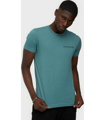 calvin klein jeans institutional chest logo ss tee t-shirts & linnen green