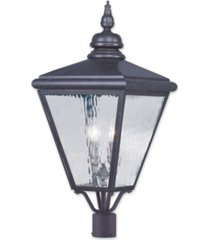 livex cambridge 4-light outdoor post top lantern