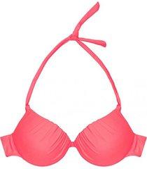 bikini estilo sostén drapeado rojo samia