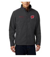 columbia wisconsin badgers men's ascender softshell jacket