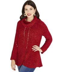 sweater manga larga liso terracota curvi