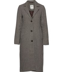 anf womens outerwear wollen jas lange jas bruin abercrombie & fitch