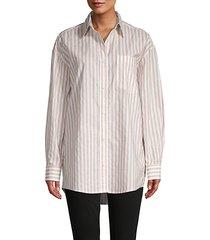 laydella oversized striped shirt