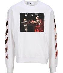 off-white off white caravaggio print sweatshirt