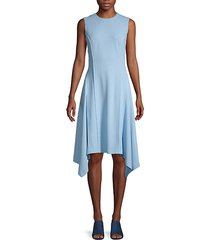 asymmetrical hem knee-length dress