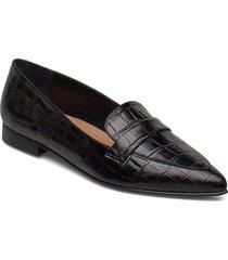 alexandra cognac croco nappa loafers låga skor svart flattered