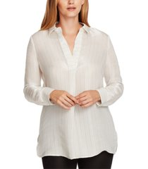 vince camuto iridescent tunic blouse
