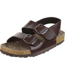 sandalia marrón coolpink camuflado