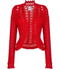 chanel pre-owned embroidered fitted cardigan