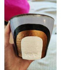 świeca w kubeczku ręcznie malowanym jaśmin