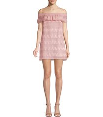 ania off-the-shoulder mini dress