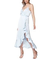 bardot aaliyah faux-wrap midi dress