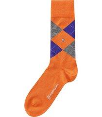 burlington socks edinburgh socks |orange & blue| 21182-8415