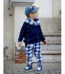 spodnie rurki blue checker