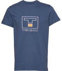 vildmark logo t-shirts short-sleeved blå tenson