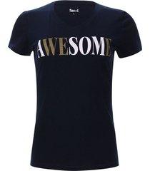 camiseta awesome color azul, talla m