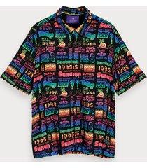 scotch & soda overhemd van viscose met print