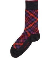 burlington socks orange & purple cadogan tartan socks 21046-3080