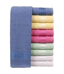 jogo de toalhas para banho malu trevalla 10 pçs 240g/m2 algodão