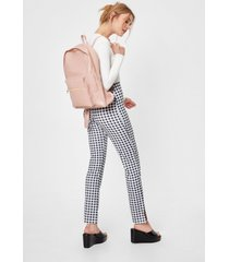 womens faux leather zip close backpack - nude