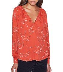 allea floral blouse
