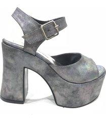 sandalia  gris lali ramirez by rh positivo