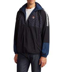 fila men's half-zip track jacket - navy - size l