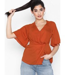 new look twist front wrap blouse festblusar