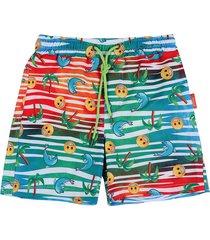pantaloneta de baño multicolor emoji en tejido plano  emol07
